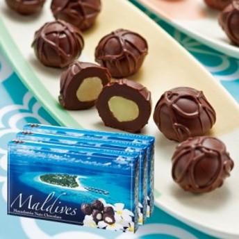モルディブお土産 | モルディブ マカデミアナッツチョコレート 3箱セット【194100】