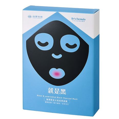 《台塑生醫》Dr's Formula極潤緊俏水娃娃黑面膜(7片/盒)