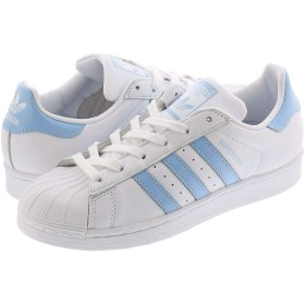 [アディダス] SUPERSTAR W RUNNING WHITE/GLOW BLUE/CORE BLACK 26.0cm
