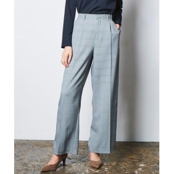 洗えてすごく伸びるセミワイドパンツ(上下別売りスーツ) (大きいサイズレディース)スーツ,women's suits ,plus size
