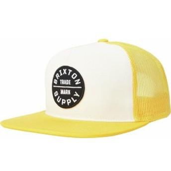 ブリクストン メンズ 帽子 アクセサリー Oath III Trucker Hat - Men's Gold/Off White