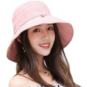 UVカット 帽子 レディース uv帽 hat 熱中症予防 女優帽 日よけ ワイヤー入る ハット 取り外すあご紐 自転車 日焼け 折りたたみ 持ち運び つば広 リボン付き 調節テープ 吸汗通気 紫外線対策