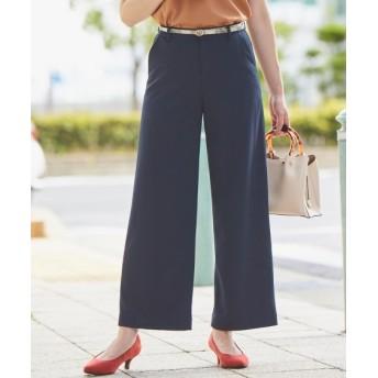 洗えるカットツイルセミワイドパンツ(上下別売りスーツ) (大きいサイズレディース)スーツ,women's suits ,plus size
