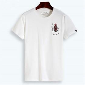 LALATP Marvel Deadpool デッドプール Wade Wilson スーパーヒーロー メンズ/レディース Tシャツ/夏服 スポーツ Tシャツ ブラック/半袖 Tシャ