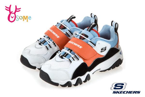Skechers ONE PIECE航海王吉貝爾 海賊 D LITES2.0 中大童 限量聯名運動鞋慢跑鞋 S8237#黑橘◆OSOME奧森鞋業