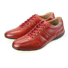 [オーナイン] スニーカー メンズ 低反発インソール ローカット レースアップ カジュアルシューズ 男性用 紳士靴 くつ OPT936-1 レッド 26.5cm