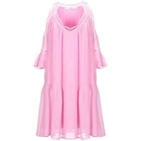 《期間限定セール開催中!》GUESS レディース ミニワンピース&ドレス ピンク S シルク 100%