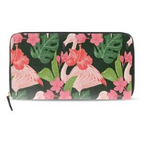 Pink Flamingoes And Flowersハローキティ小銭入れ 財布 コインケース 和柄 がま口小銭入れ