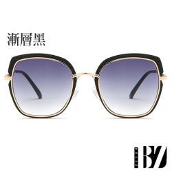 【BeLiz】精選75折-菱紋方框*透視炫色墨鏡/2色可選