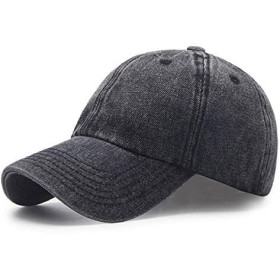 AETRENDS メンズ コットン 野球帽 メンズ レディース スポーツ 帽子 屋外 野球帽 と キャップ Lサイズ ブラック