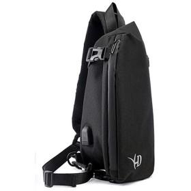 メンズ ボディバッグ 斜めがけ ショルダーバッグ ショルダーバッグ ボディバッグ バッグ かばん 斜め掛け メンズ USB 充電 (ブラック)