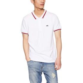 [クリフメイヤー] ラインリブポロシャツ 半袖 メンズ poloシャツ 父の日 ギフト 鹿の子 カノコ プレゼント MEDIUM オフホワイト