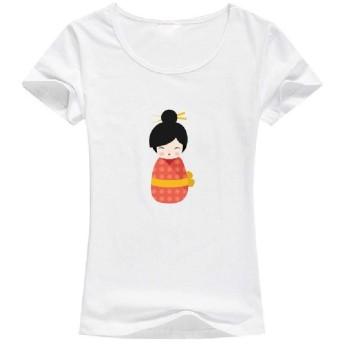 cheelot 女性レギュラー通気性かわいいプルオーバーブラウスコンフォートTシャツトップ AS2 M