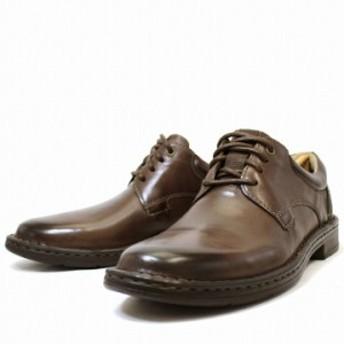 クラークス Clarks ビジネスシューズ 靴 送料無料 革靴 メンズ レザー プレーントゥ 本革 ダークブラウン 茶色 ブランド GADSON PLAIN DA