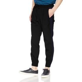 [ウィゴー] WEGO ストレッチ ツイル ライン ジョガー パンツ M ブラック メンズ