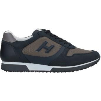 《セール開催中》HOGAN メンズ スニーカー&テニスシューズ(ローカット) ミリタリーグリーン 5.5 革 / 紡績繊維