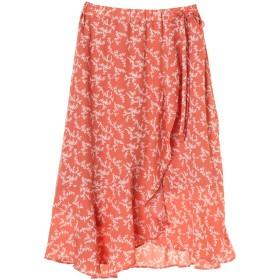 【5,000円以上お買物で送料無料】花柄ラップスカート
