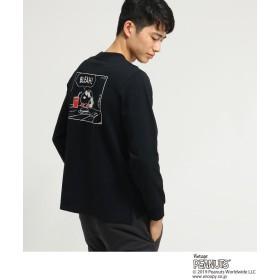 BASE CONTROL(ベースコントロール) ピーナッツ PEANUTS 別注 スヌーピー バックプリント 長袖 Tシャツ