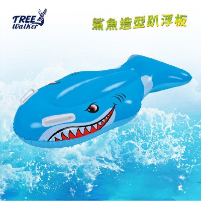 【Treewalker露遊】鯊魚造型趴浮板 充氣浮板 浮排 造型趴板 兒童水上浮板 漂浮板 泳圈 水上玩具 氣墊浮板