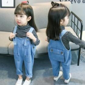 新作 キッズ デニムサロペット オーバーオール オールインワン ボトムス 女の子 男の子 ベビー 子供服 パンツ ジュニア 子ども 大きいサ