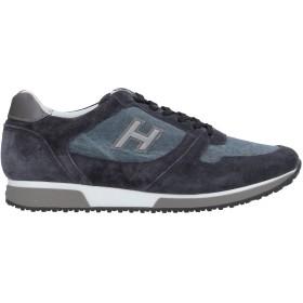 《セール開催中》HOGAN メンズ スニーカー&テニスシューズ(ローカット) ブルー 5.5 革 / 紡績繊維