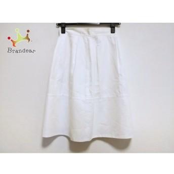 ハロッズ HARRODS スカート サイズ2 M レディース 美品 白 ワッフル 新着 20190801