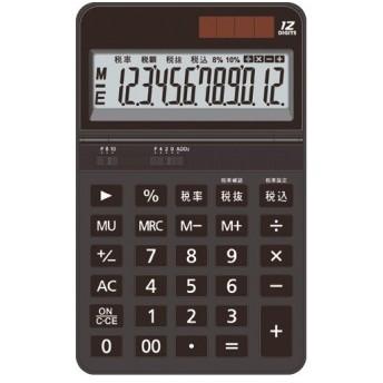 AURORA 中型電卓 12桁 卓上タイプ ブラック DT700TXK 1台