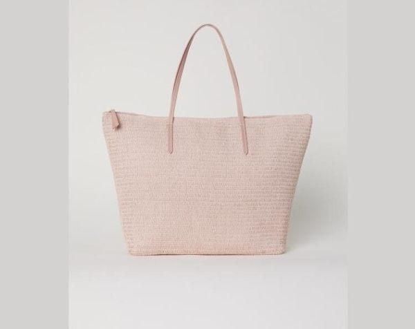 編織包 H&M女裝女士包袋春夏新款 草編包沙灘編織包托特包CY潮流站