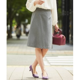 洗えるカットツイルセミフレアスカート(上下別売りスーツ) (大きいサイズレディース)スーツ,women's suits ,plus size