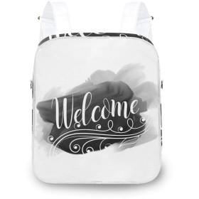 ようこそ 夏 時間 リュックサック レディース おしゃれ 人気 2WAY リュック ワンショルダ 軽量 通学 旅行バッグパック