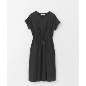 [アーバンリサーチ] ワンピース ドレス エアリーソフトフレンチスリーブワンピース レディース BLACK FREE