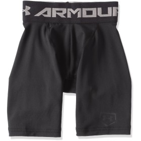 (アンダーアーマー)UNDER ARMOUR ヒートギアアーマーダイナプレイショーツ(ベースボール/ベースレイヤーショーツ/BOYS)[BBB2206]BLK YSM(日本サイズ130相当)