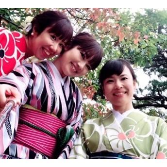 レンタル着物を着て萩の町を散策 着物体験(女性 小紋)
