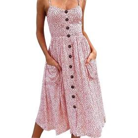 [エフェクト] ワンピース リゾート ノースリーブ ハワイアン テイスト 夏 用 キャミ ワンピ ロング 丈 女性 ドレス