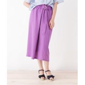 【grove:スカート】◆ラップ風ナロースカート