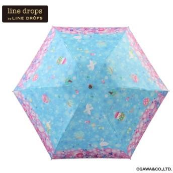 [マルイ]【セール】日傘(晴雨兼用/手開き折たたみ傘/撥水/UVカット率&遮光率99%以上/遮熱効果/ラクラクオープン)/ラインドロップス(LINE DROPS)