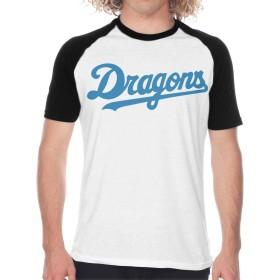 中日ドラゴンズ Dragons Tシャツ メンズ トップス シンプル スポーツ 半袖 無地 軽い 柔らかい 綿 薄手 夏季対応