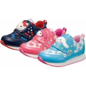 (A倉庫)アサヒ サンリオ P071  S/R P071 キャラクターシューズ 子供靴 スニーカー 女の子 キッズ ベルクロ ハローキティ マイメロディ