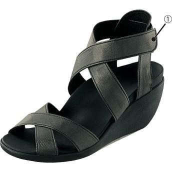 リゲッタ クロスベルトサンダル - セシール ■カラー:ブラック ■サイズ:S(22.5-23.0cm)