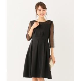 (any SiS/エニィスィス)【洗える】ビスチェ風ドットチュール ドレス/レディース ブラック系