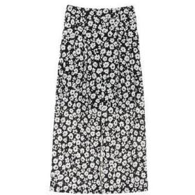 グリーンパークス Green Parks RAY CASSIN タンショクフラワーptナロースカート (Black)