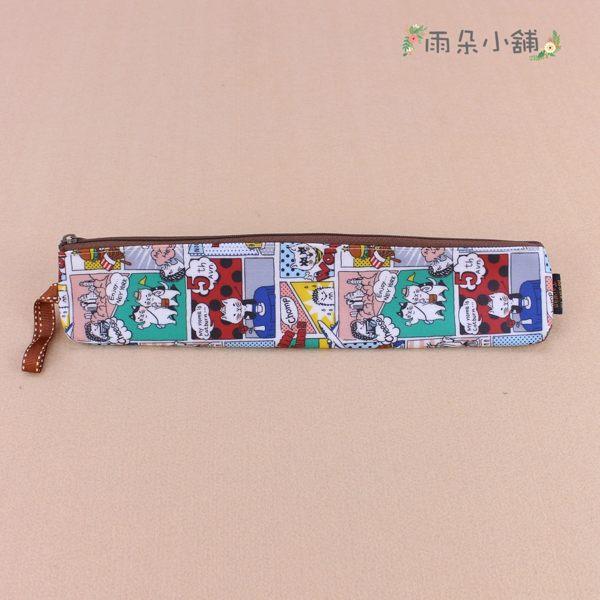 餐具袋 包包 防水包 雨朵小舖 M500-0009 加長吸管餐具袋-白貓咪的漫畫旅遊行02689 funbaobao