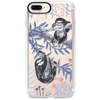 ケースティファイ CASETIFY レディース iPhone (8 Plus)ケース Two Sloths iPhone 6/7/8 & 7/8 Plus Case Blue /White /Black /Pink