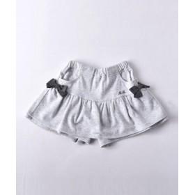 (BEBE ONLINE STORE/べべオンラインストア)モダール裏毛リボン付きヒラミニスカートパンツ/レディース グレー