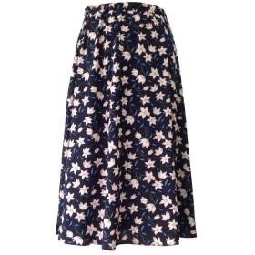 YIWASTAR スカート(種類豊富) 上品 ロング スカート プリーツスカート 無地スカート 花柄チェックスカート 水玉 星 膝下スカート 80cm ウエストゴム 超可愛い