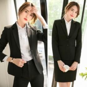 レディース パンツスーツ ブラックスーツ フォーマル ママ リクルート 大きいサイズ セット 長袖 卒業式 入学式