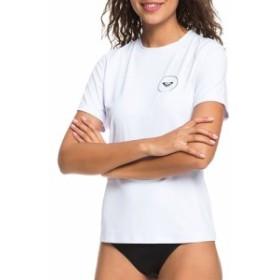 ロキシー Roxy レディース ラッシュガード 水着・ビーチウェア Enjoy Waves Short Sleeve Rash Guard Bright White