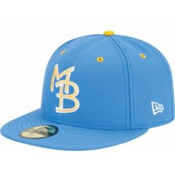 ニューエラ New Era メンズ キャップ 帽子 Myrtle Beach Pelicans 59Fifty Light Blue Authentic Hat
