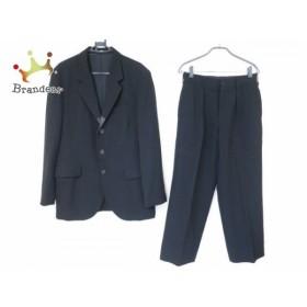 ヨウジヤマモト yohjiyamamoto シングルスーツ メンズ 黒 レザー切り替え/肩パッド  値下げ 20190909