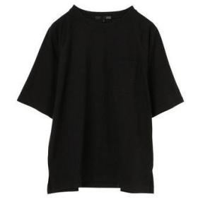 グリーンパークス Green Parks ポケット付5分袖ワイドラグランTシャツ (Black)